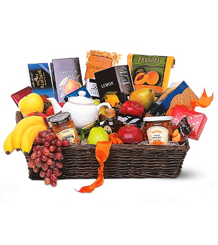 Grande Gourmet Fruit Basket in Canada AB, Anicca Flowers