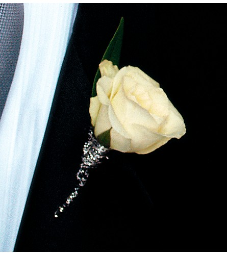White Rose Boutonniere in Big Rapids, Cadillac, Reed City and Canadian Lakes MI, Patterson's Flowers, Inc.