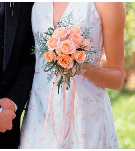 Peach Promise Bouquet in Madison WI, Felly's Flowers