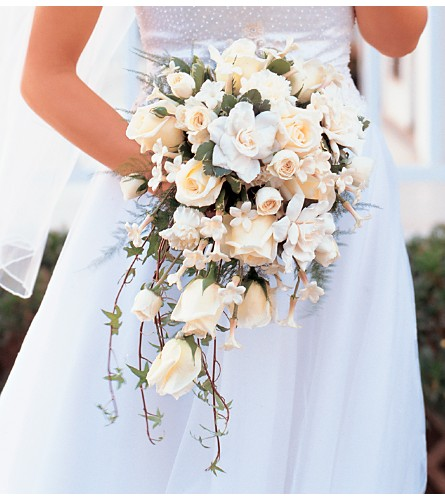 White Cascade Bridal Bouquet in Halifax NS, Atlantic Gardens & Greenery Florist