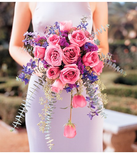 Cascading Lavender Roses Bouquet in Madison WI, Felly's Flowers