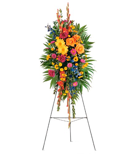 Celebration of Life Standing Spray in Weymouth MA, Bra Wey Florist