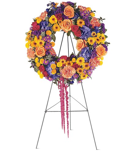 Celebration Wreath in San Francisco CA, Fillmore Florist