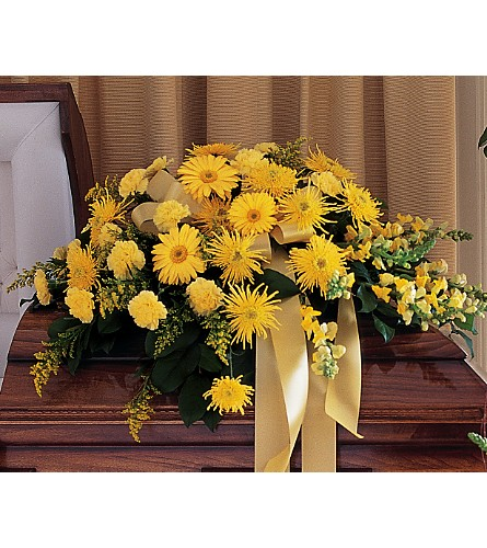 Brighter Blessings Casket Spray in San Francisco CA, Fillmore Florist