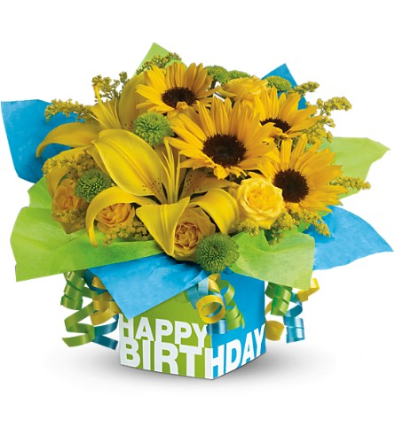 Teleflora's Sunny Birthday Present in Reseda CA, Valley Flowers
