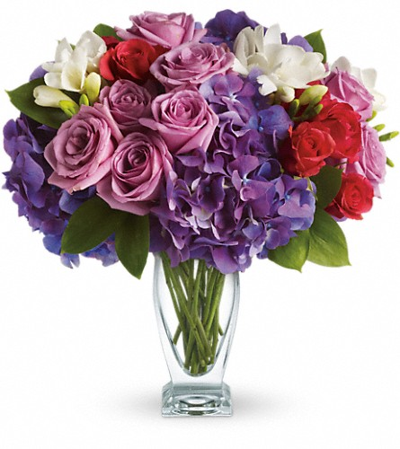 Teleflora's Rhapsody in Purple in Longmont CO, Longmont Florist, Inc.