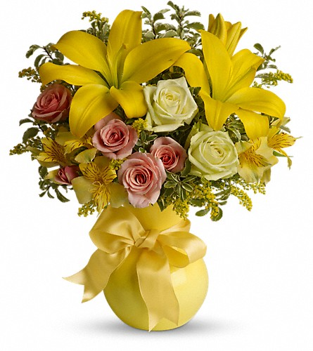Teleflora's Sunny Smiles in Dover NJ, Victor's Flowers & Gifts