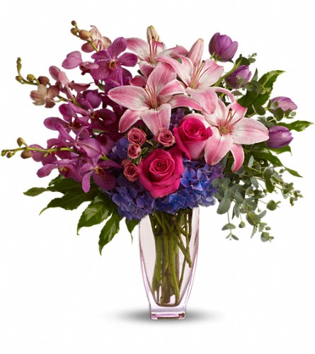Teleflora's Purple Perfection in Bakersfield CA, White Oaks Florist