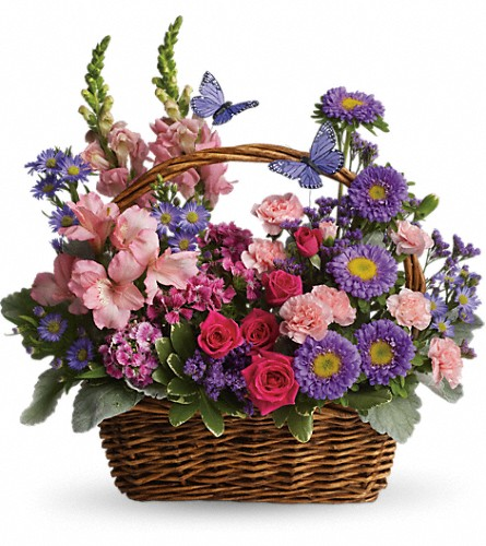 Country Basket Blooms in St. Petersburg FL, Artistic Flowers