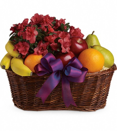 Fruits and Blooms Basket in Warwick RI, Yard Works Floral, Gift & Garden