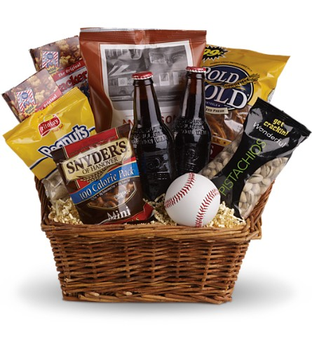 Take Me Out to the Ballgame Basket in Poughkeepsie NY, Mariannes Floral Garden