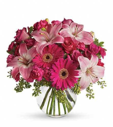 A Little Pink Me Up in Nationwide MI, Wesley Berry Florist, Inc.