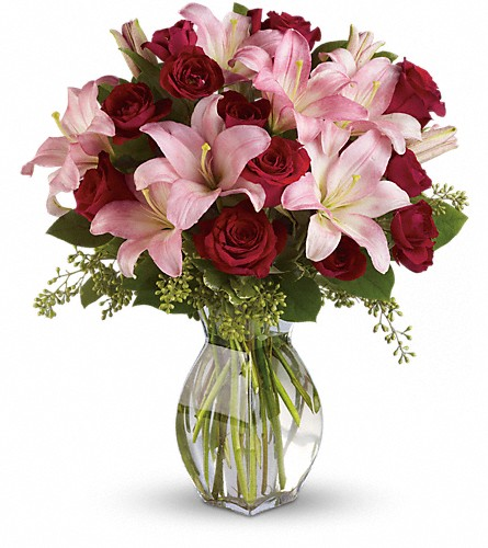 Lavish Love Bouquet with Long Stemmed Red Roses in Jay ME, The Flower Barn