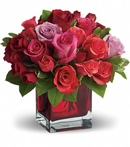 Madly in Love Bouquet with Red Roses by Teleflora in Denton TX, Crickette's Flowers & Gifts