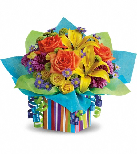 Teleflora's Rainbow Present in Denver CO, Bloomfield Florist