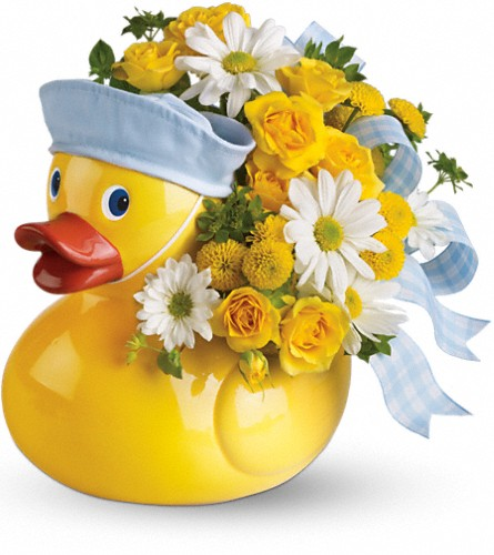 Teleflora's Ducky Delight - Boy in Sapulpa OK, Neal & Jean's Flowers & Gifts, Inc.
