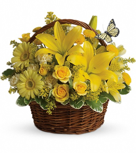 Basket Full of Wishes in Holladay UT, Brown Floral