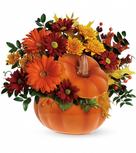Teleflora's Country Pumpkin in Menomonee Falls WI, Bank of Flowers