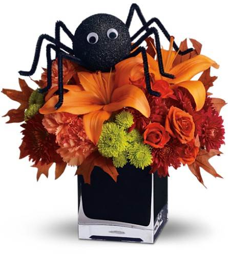 Teleflora's Spooky Sweet in Port Chester NY, Floral Fashions