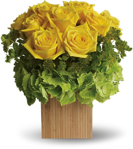 Teleflora's Box of Sunshine in Amherst NY, The Trillium's Courtyard Florist