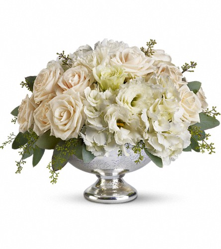 Teleflora's Park Avenue Centerpiece in East Quogue NY, Roses And Rice