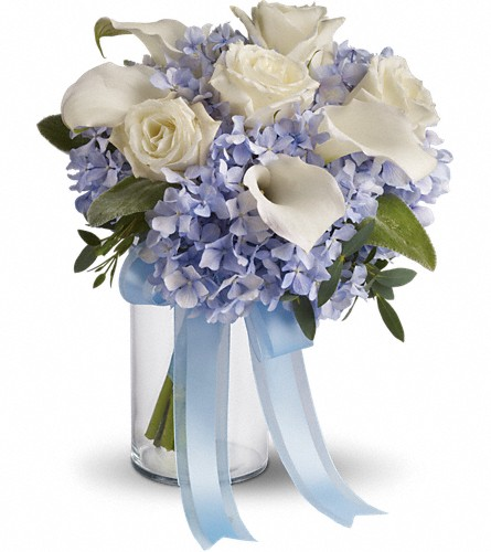 Love in Blue Bouquet in Bakersfield CA, White Oaks Florist