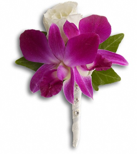 Fresh in Fuchsia Boutonniere in Sayville NY, Sayville Flowers Inc