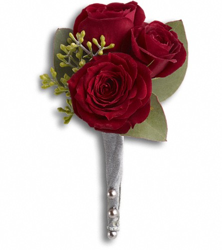King's Red Rose Boutonniere in Kelowna BC, Burnetts Florist & Gifts