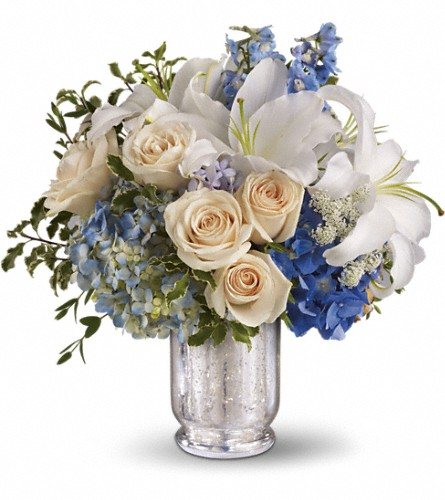 Teleflora's Seaside Centerpiece in Holladay UT, Brown Floral
