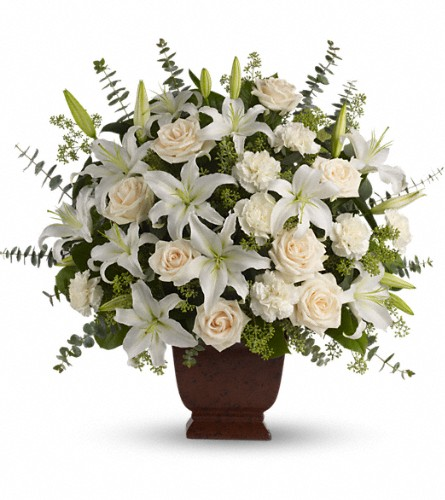 Teleflora's Loving Lilies and Roses Bouquet in Boston MA, Exotic Flowers