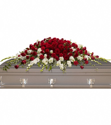 Garden of Grandeur Casket Spray in Sapulpa OK, Neal & Jean's Flowers & Gifts, Inc.