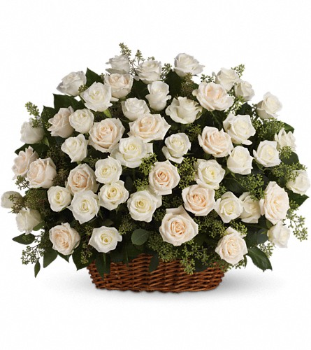 Bountiful Rose Basket in Metairie LA, Villere's Florist