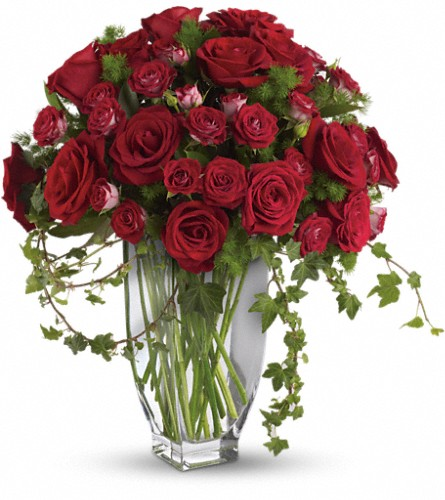 Teleflora's Rose Romanesque Bouquet - Red Roses Local and Nationwide Guaranteed Delivery - GoFlorist.com