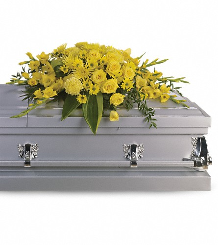 Graceful Grandeur Casket Spray in Bowling Green OH, Klotz Floral Design & Garden