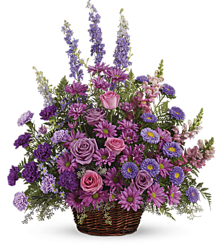 Gracious Lavender Basket in Westminster CA, Dave's Flowers