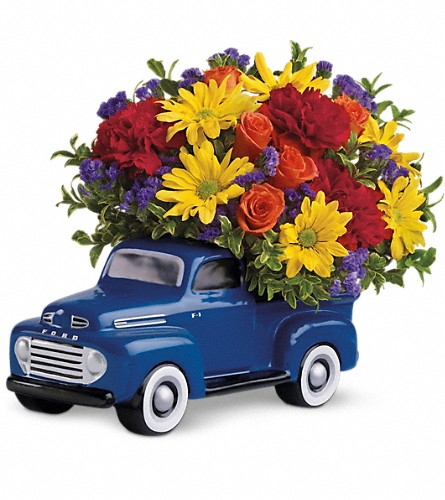 Teleflora's '48 Ford Pickup Bouquet in Utica NY, Chester's Flower Shop And Greenhouses