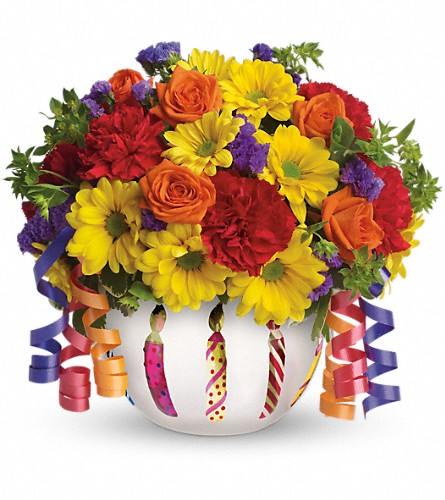 Teleflora's Brilliant Birthday Blooms in Indianapolis IN, Gillespie Florists