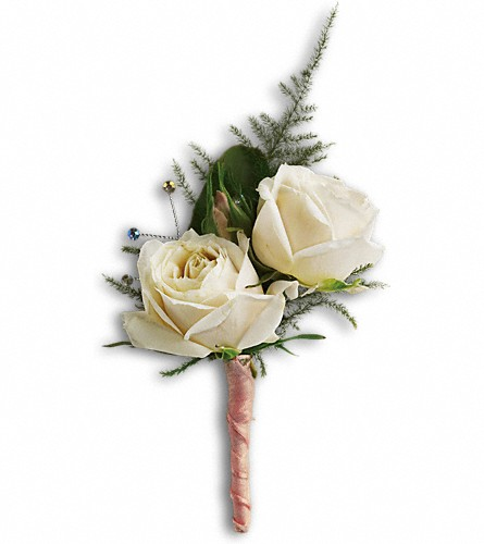 White Tie Boutonniere in Oklahoma City OK, Capitol Hill Florist and Gifts