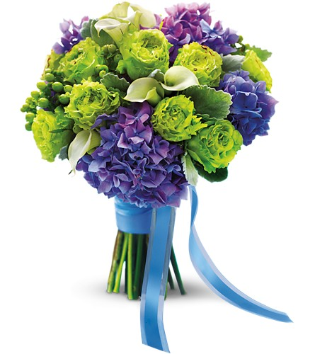Luxe Lavender and Green Bouquet in Muskegon MI, Barry's Flower Shop