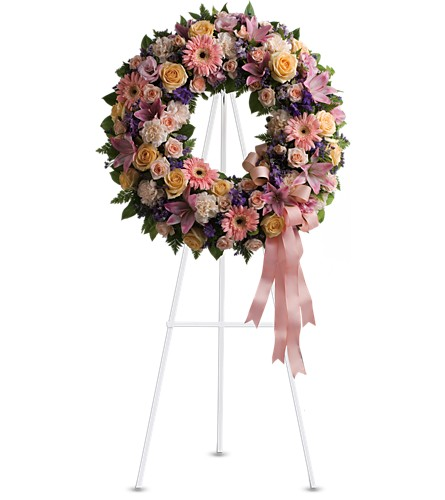 Graceful Wreath in Palm Springs CA, Palm Springs Florist, Inc.
