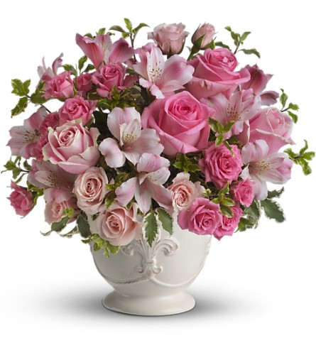 Teleflora's Pink Potpourri Bouquet with Roses Local and Nationwide Guaranteed Delivery - GoFlorist.com