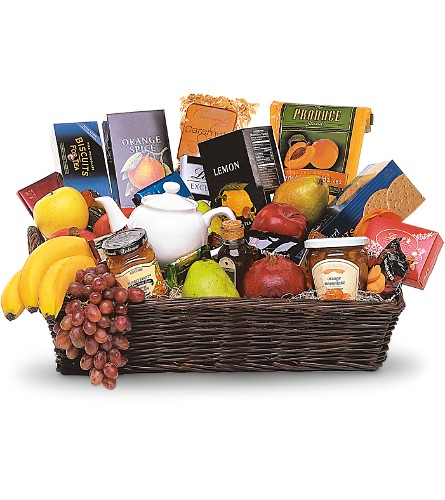 Grande Gourmet Fruit Basket in Spring Lake Heights NJ, Wallflowers