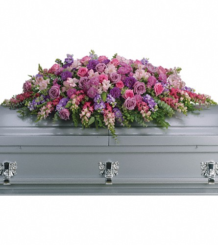 Lavender Tribute Casket Spray in Laurel MD, Rainbow Florist & Delectables, Inc.