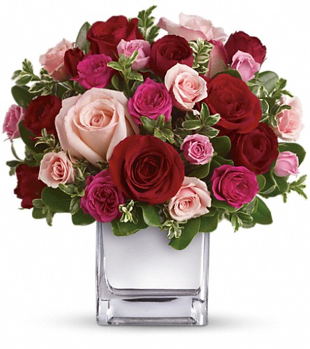 Teleflora's Love Medley Bouquet with Red Roses in Brook Park OH, Petals of Love