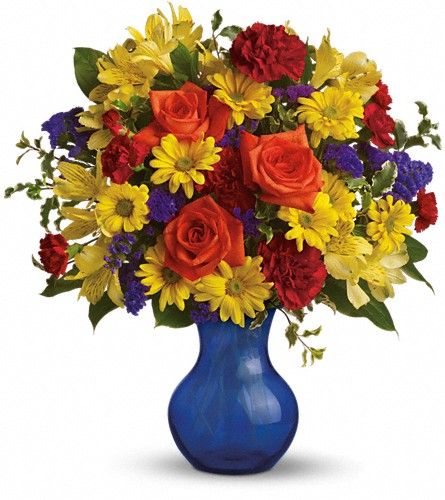 Teleflora's Three Cheers for You! in Fullerton CA, King's Flowers