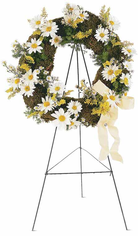Drop of Sunshine Wreath in McLean VA, MyFlorist