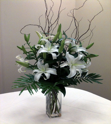 White Oriental Lillies in Naples FL, Gene's 5th Ave Florist