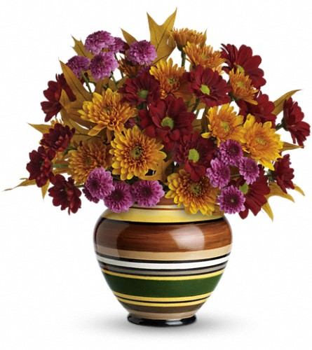 Teleflora's Rings of Autumn Bouquet in Rutland VT, Hawley's Florist
