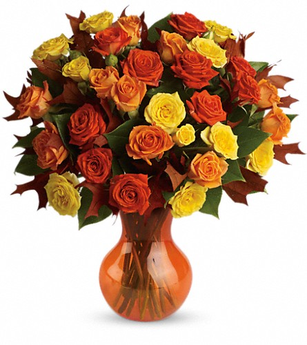 Teleflora's Fabulous Fall Roses in Grand Haven MI, Grand Haven Garden House & Floral