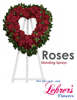 All Roses Standing Spray in Denver CO, Lehrer's Flowers